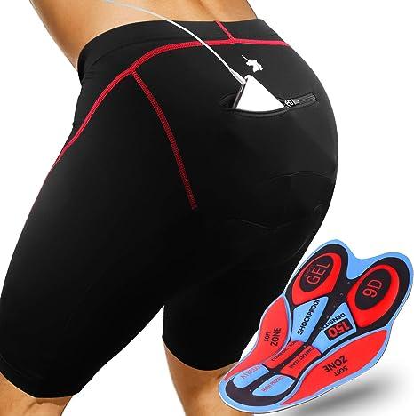 GRAT.UNIC Pantalones Cortos de Bicicleta,Shorts de Ciclismo,9D ...
