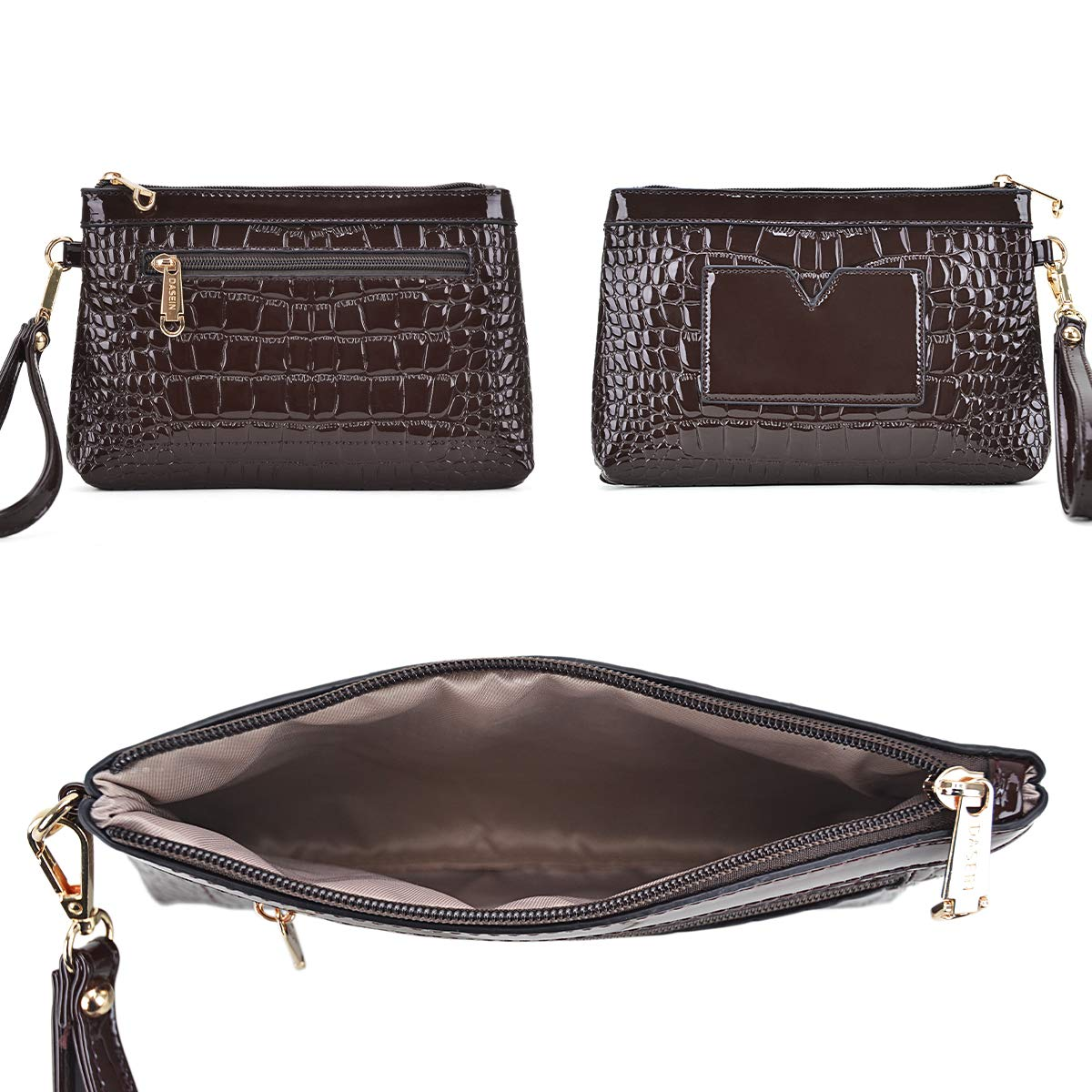 Dasein Women Barrel Handbags Purses Fashion Satchel Bags Top Handle Shoulder Bags Vegan Leather Tote Bags by Dasein (Image #7)
