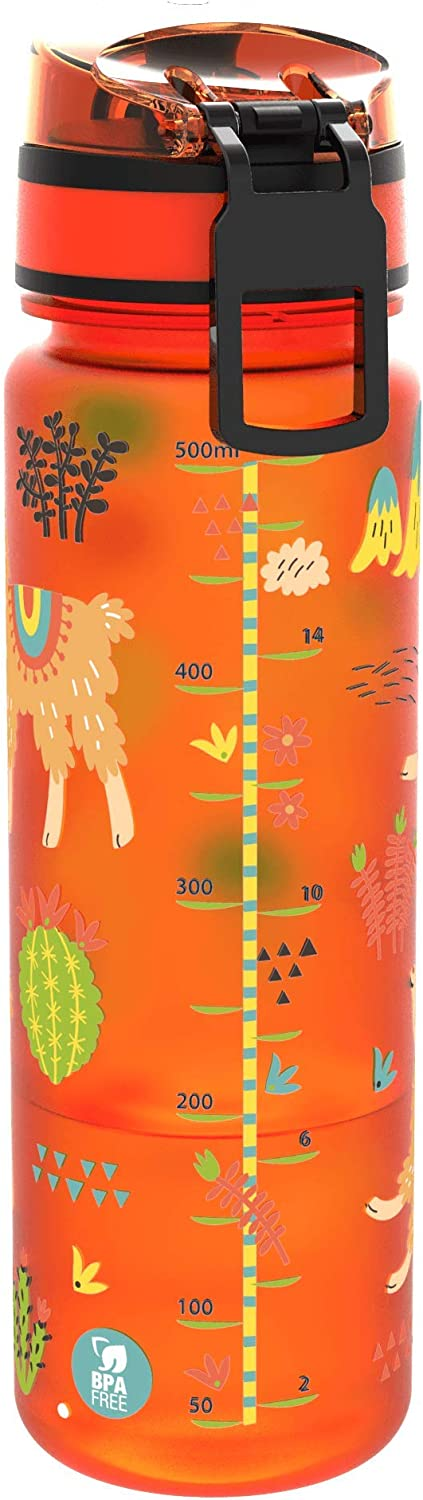 Ion8 Slim Leak Proof BPA Free Water Bottle Llama 500ml 18 oz