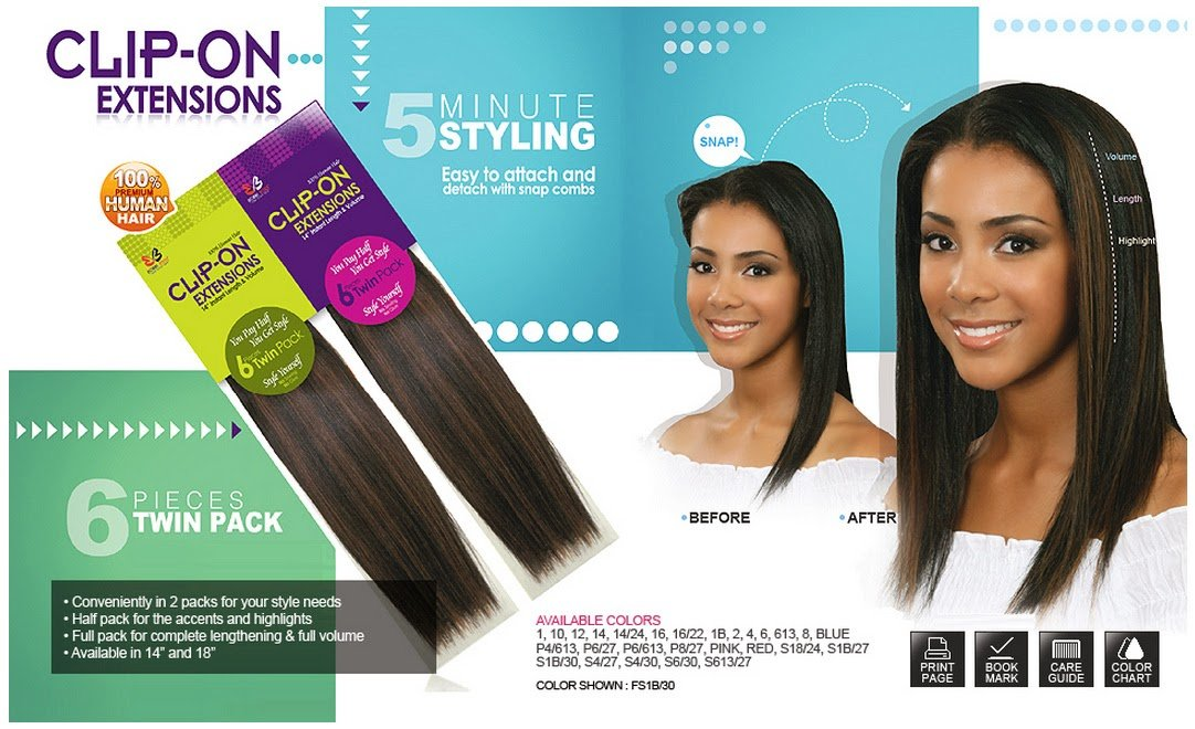 Amazon Bobbi Boss Clip On Extensions 18 100 Human Hair 8