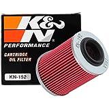 K&N Filtro de aceite de motocicleta: alto rendimiento, premium, diseñado para ser utilizado con aceites sintéticos o…