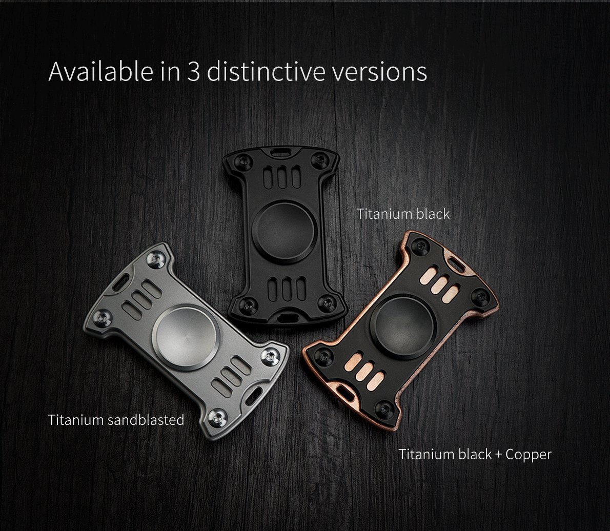 GP1 Titanium Fidget Spinner, Hand Excise, Relieves Stress and Anxiety, MecArmy (black)