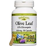 Natural Factors, Olive Leaf, 500 mg, 90 Capsules