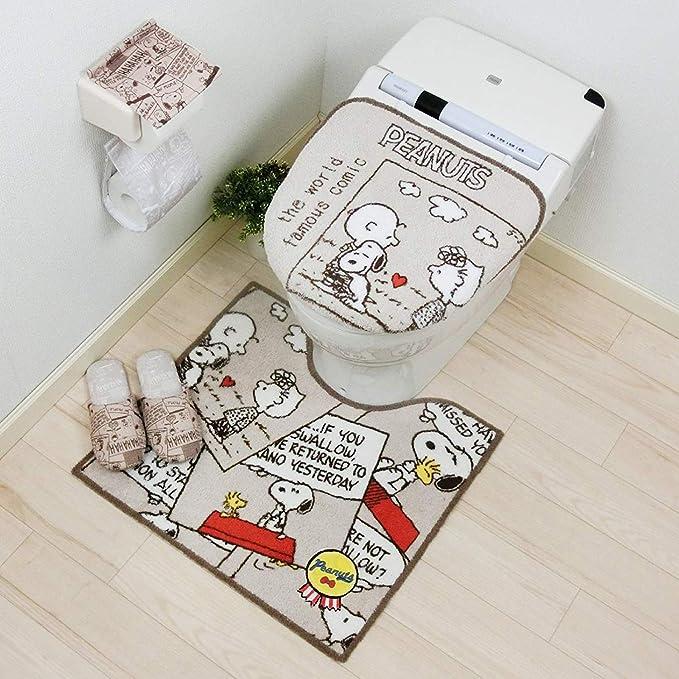 Senko Teppich Peanuts Snoopy Elfenbeinfarben 45 x 60 cm