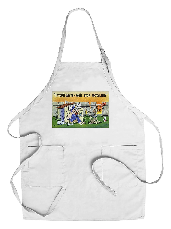 【期間限定】 Comic Apron Cartoon – Howling Man In Dog House , Man Dog Howling ; Write and We 'll停止Howling Chef's Apron LANT-32612-AP B018NNZE4M Chef's Apron, 高質:dadc2d28 --- ballyshannonshow.com