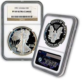 UNITED STATES 2014 S SILVER EAGLE $1 DOLLAR COIN NGC MS69