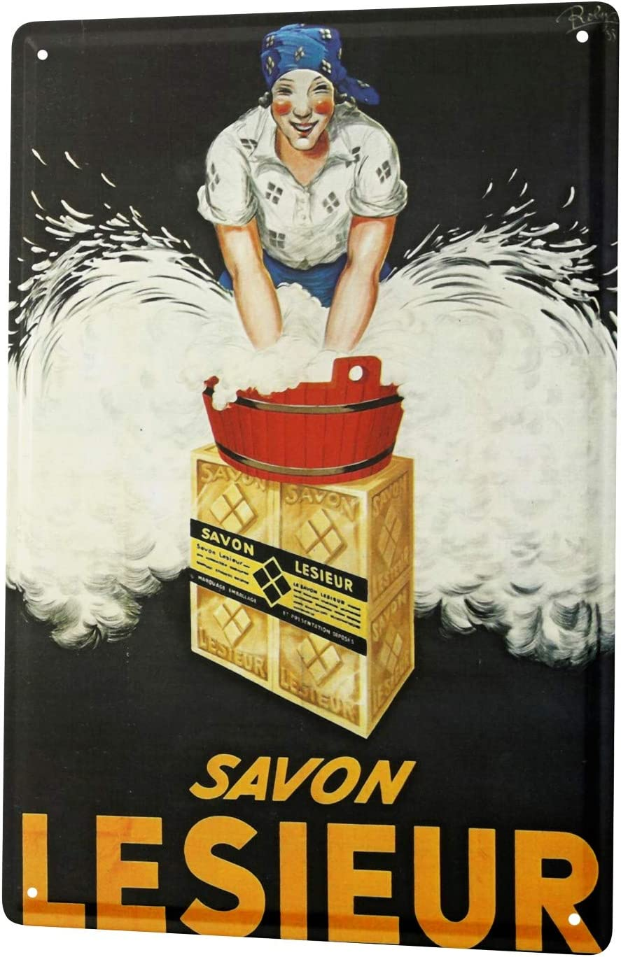 LEotiE SINCE 2004 Plaque en M/étal M/étallique Poster Mural tin Sign Amusant Savon