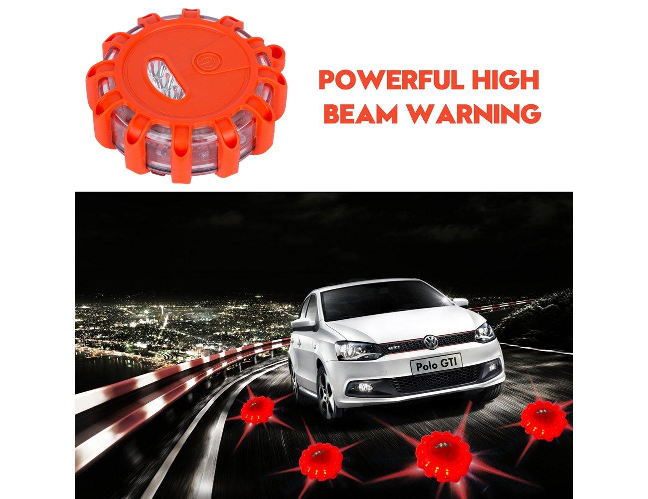 Boot Hakkin LKW Blinkendes LED-Warnlicht f/ür Auto mit Haken und magnetischem Sockel