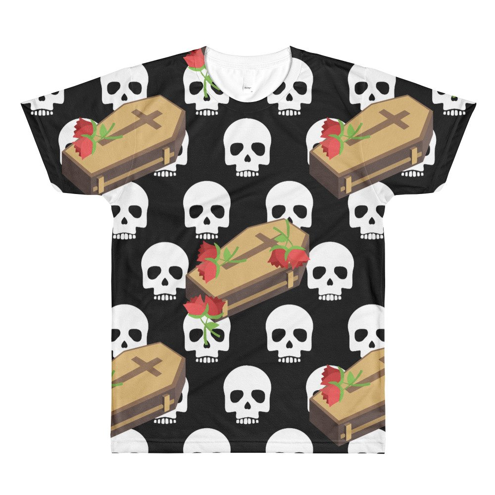 skull coffin emojis All-Over Printed T-Shirt top Tshirt shirt