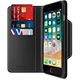 Maxboost iPhone 8 Plus Wallet Case [Folio Style] [Stand Feature] mWallet Apple iPhone 8 Plus (2017)/iPhone 7 Plus [Black] Protective Credit Card Leather Cover [Card Slot+Side Pocket] Magnetic Closure