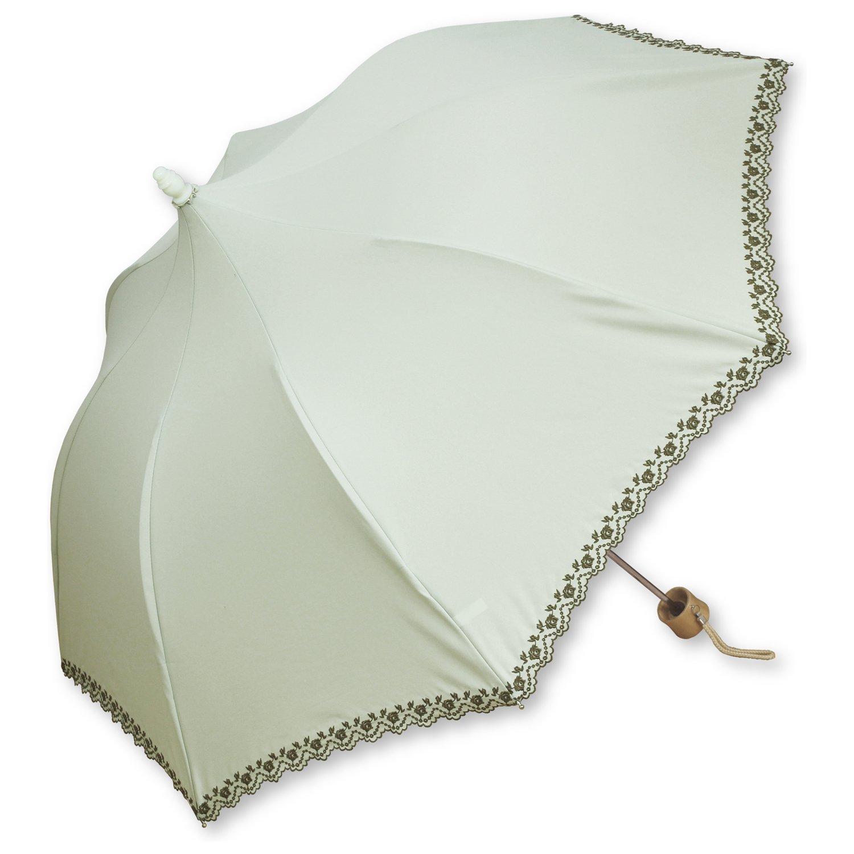 ルミエーブル ローゼン ガーデン 全3色 折りたたみ傘 手開き 日傘/晴雨兼用 アップルグリーン 8本骨 50cm UVカット 0104-15000-c19 B01EA8BAZG アップルグリーン アップルグリーン