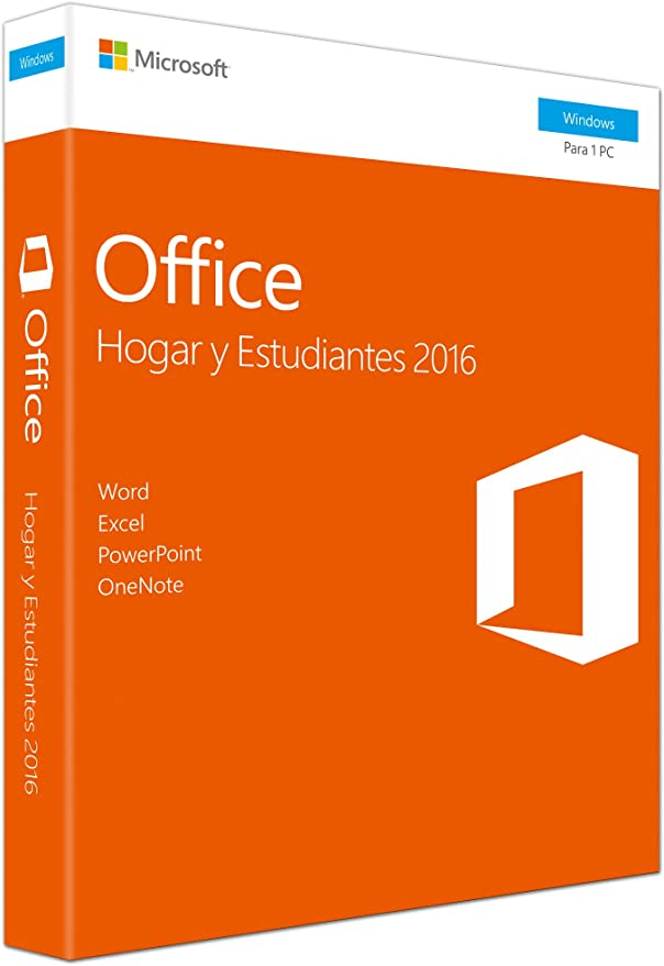 Microsoft - Office Hogar y Estudiantes 2016 - 1 licencia para PC: Microsoft: Amazon.es: Software