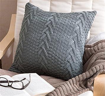 Amazon.com: ANDUUNI - Funda de cojín de punto de algodón ...