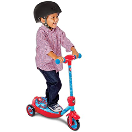 Marvel Spider-Man Boys 6V Battery-Powered Bubble Scooter by Huffy