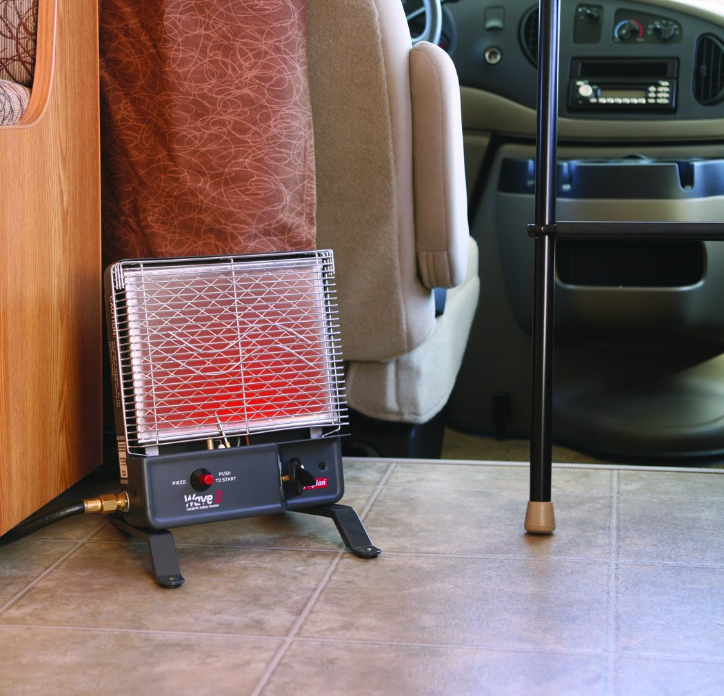 Olympian Wave 3 LP Portable Gas Catalytic Heater by Camco (3000 BTU )- Can Warm Up to 130 Square Feet of Space (57331)