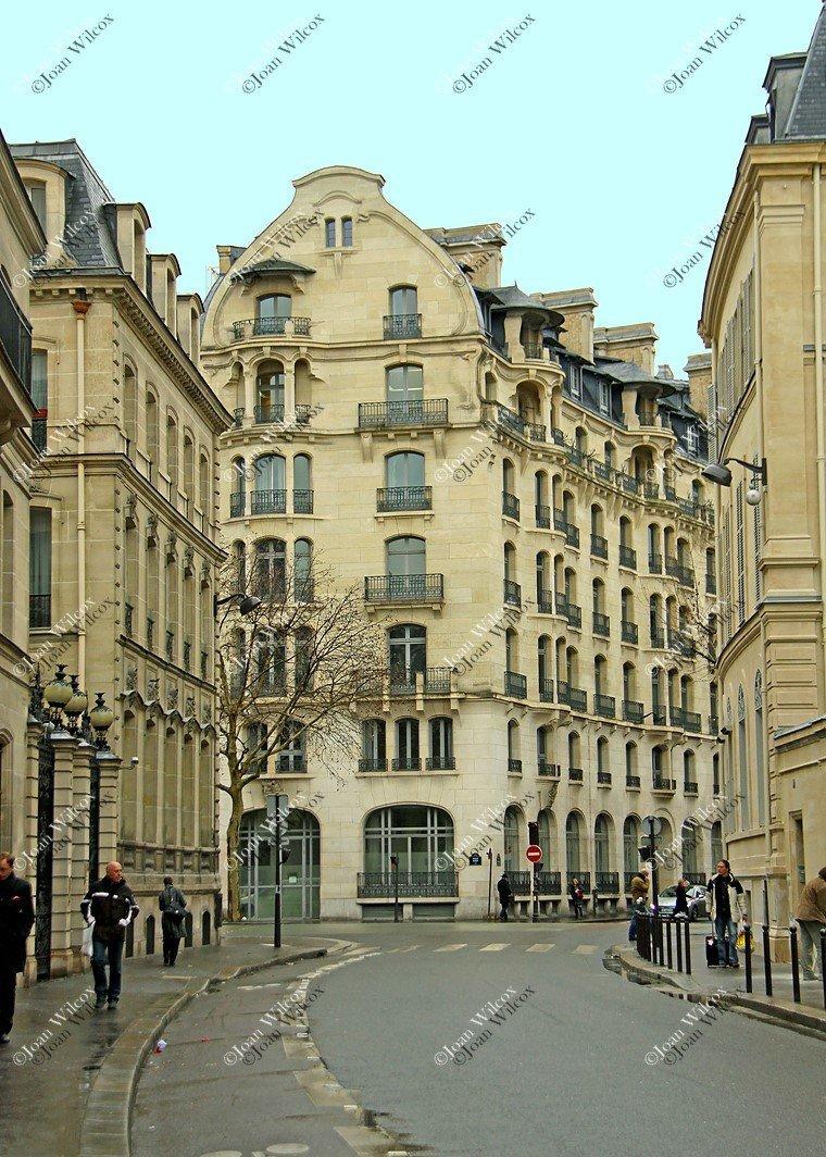 Pintorescas calles de la ciudad de París Edificios de interés ...