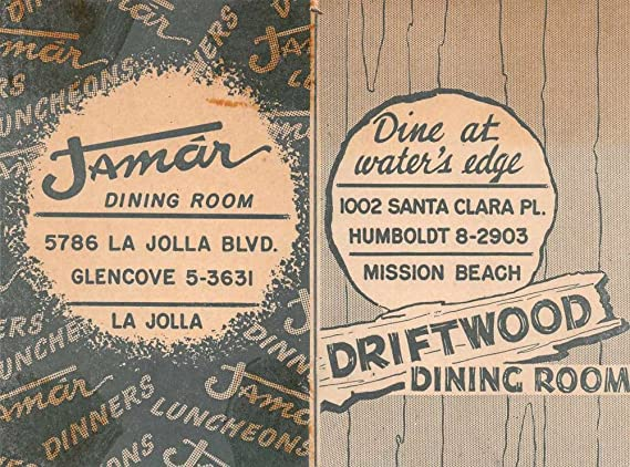La jolla mission beach jamar and driftwood dining room fold out map la jolla mission beach jamar and driftwood dining room fold out map ad j69147 at amazons entertainment collectibles store reheart Image collections