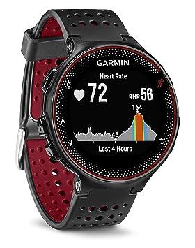 83ce3f4a8 Garmin Forerunner 235 - Reloj con pulsómetro en la muñeca, unisex, color  negro y rojo, talla única: Garmin: Amazon.es: Deportes y aire libre