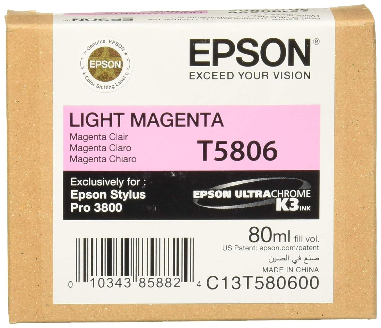Epson C13T580600 - Cartucho de tinta, magenta claro: Amazon.es ...