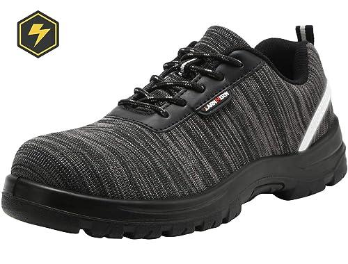 Zapatos de Seguridad Hombres, LM-328 Zapatillas de Trabajo con Punta de Acero Ultra Liviano Reflectivo Transpirable: Amazon.es: Zapatos y complementos
