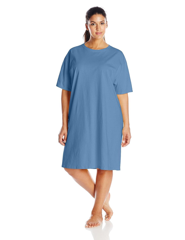 Hanes Womens Wear Around Nightshirt One Size-Blue Horizon 5660