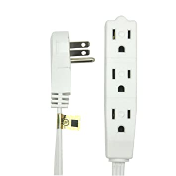 bindmaster 20 feet extension cord wire, 3 prong grounded, 3 3 Outlet Grounded Wire bindmaster 20 feet extension cord wire, 3 prong grounded, 3 outlets, angeled 3 wire grounded outlet