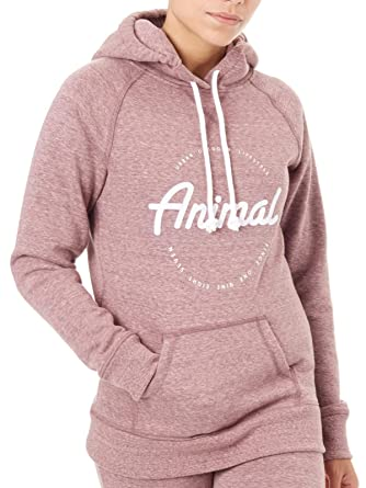 Animal Womens Speckles Casual Hoodie Sweatshirt Jumper Hooded Top