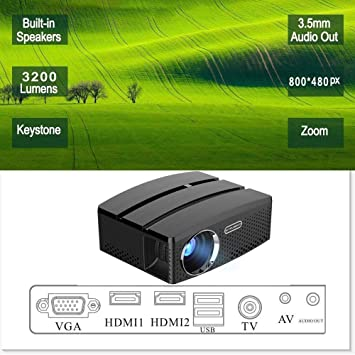 KAIDILA LCD HD Video Proyector 3200 lúmenes LED Multimedia proyector Home Cinema Teatro 1080p Soporte HDMI