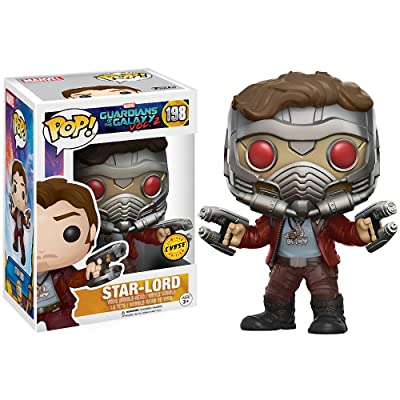 Star-Lord (Chase Edition): Guardians of The Galaxy 2 x Funko POP! Marvel Vinyl Figure & 1 POP! Compatible PET Plastic Graphical Protector Bundle [#198 / 12784 - B]: Toys & Games