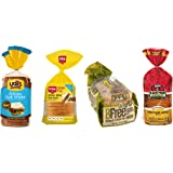 Gluten Free Bread Variety Pack, Contains: Udi's GF Delicious White Bread, Schar GF Artisan White Bread, Bfree GF White Sandwich Bread, and Canyon Bakehouse GF Mountain White Bread