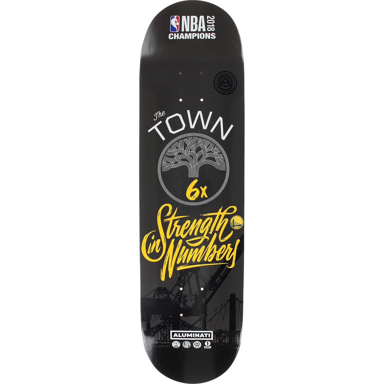 Aluminati Skateboards NBA 2018 Champion Warrior 6x Woody Limited Edition - 8.25'' x 32'' by Aluminati Skateboards