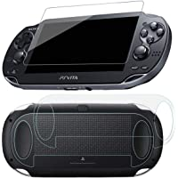 SNNC PlayStation Vita 1000 Screen Protector Anti-Scratch Tempered Glass Film Shield Games Console Joy Con Accessories…