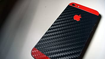 GADGETS WRAP Apple IPhone 5s SE Black Red Carbon Back Sides And Front Full