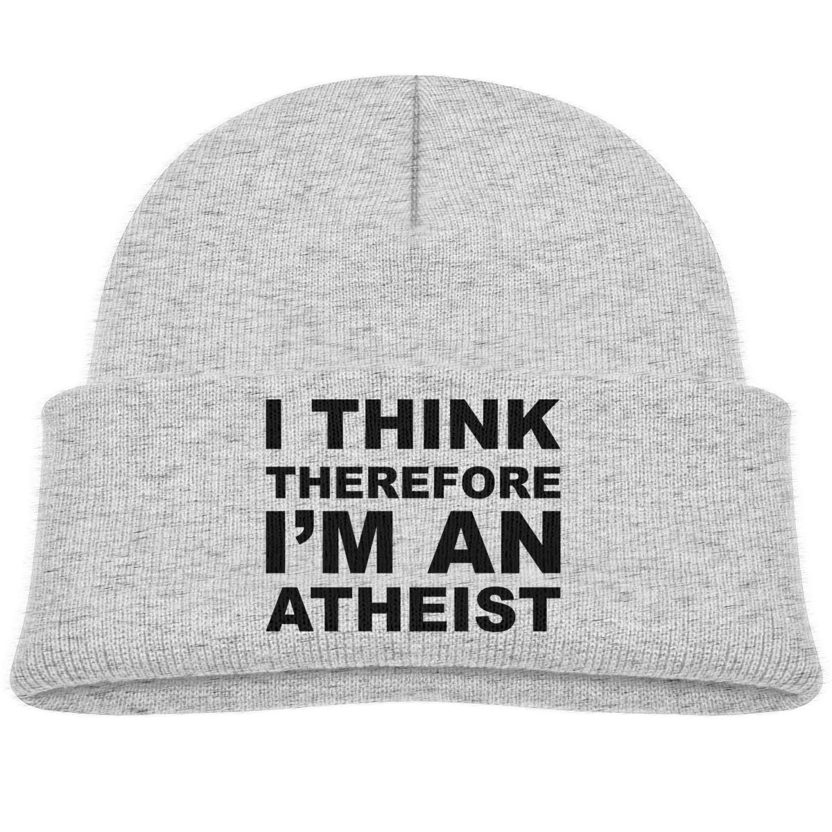Hanfjj Kefdk I Think Therefore Im Atheist Infant Skull Hat Kids Beanies Caps