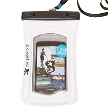 geckobrands flotador teléfono bolsa seca, color blanco: Amazon.es: Deportes y aire libre