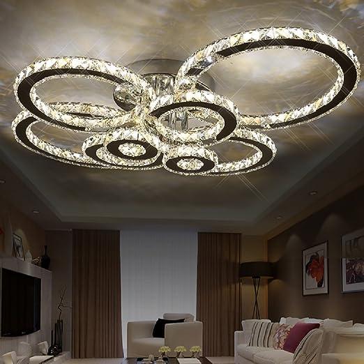 competitive price ad720 6d9ed Aiwen LED Crystal Ceiling Lighting Flush Mount Chrome ...