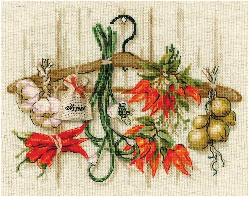 cotone Riolis 1794 30 x 24 cm multicolore Schema punto croce contato