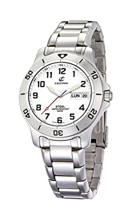 Calypso Mens K5089/5 Stainless Steel White Dial Watch