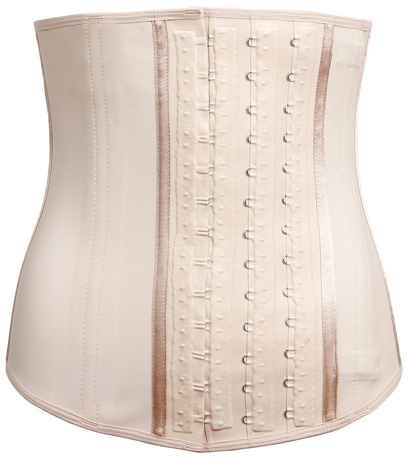 LadySlim by NuvoFit Fajas Colombiana Latex Waist Cincher/Trainer/Trimmer/Corset Weight Loss Shaper Beige XS by LadySlim by NuvoFit