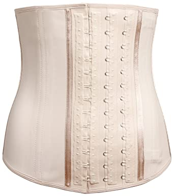 ffd4d501da LADY SLIM Colombian Latex Waist Cincher Trainer Trimmer Corset Weight Loss  Shaper Beige