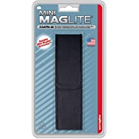 Maglite Nylon Full Flap Belt Holster for AA Cell Mini Flashlights, Black