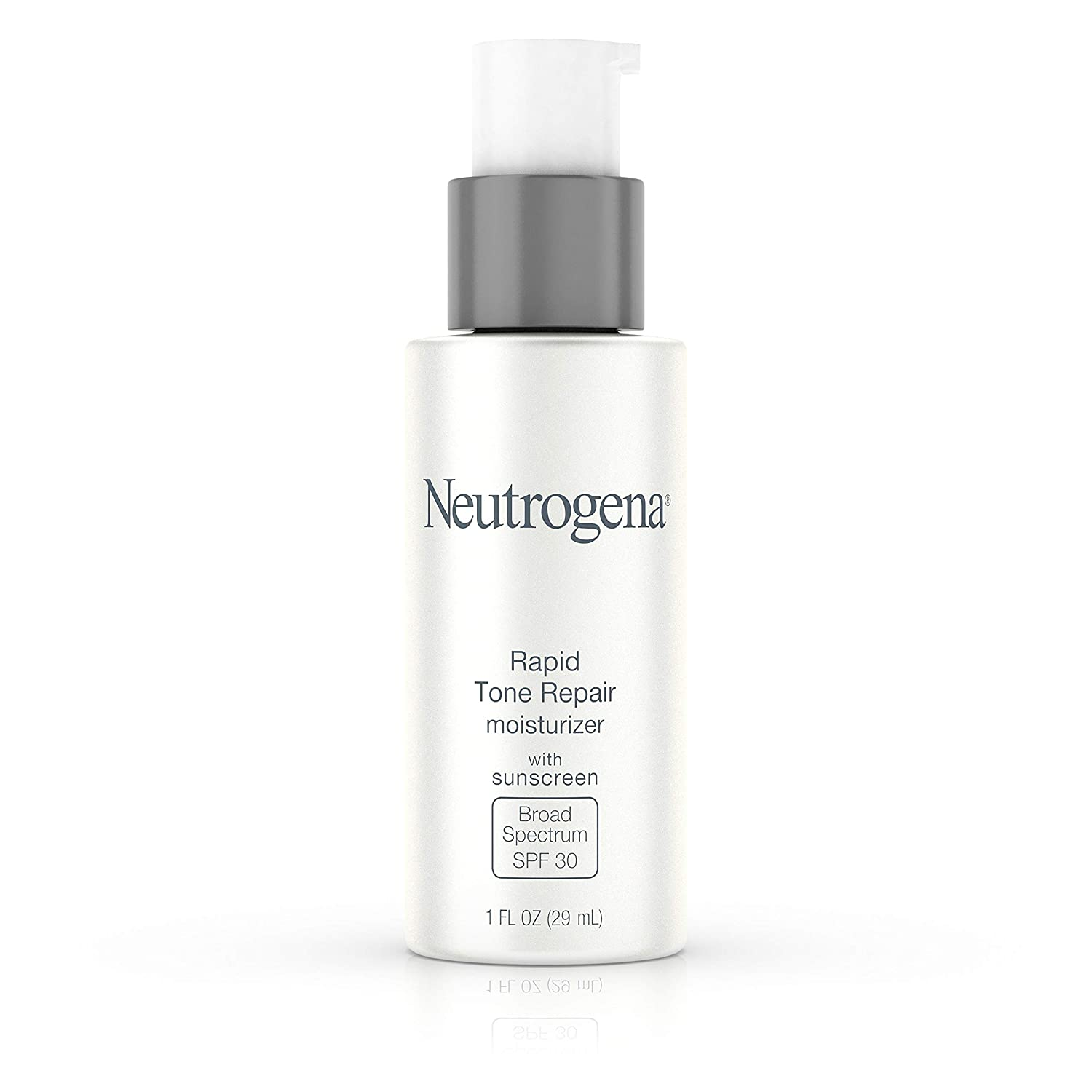 Neutrogena Rapid Tone Repair Face Moisturizer with Retinol SA, Vitamin C, Hyaluronic Acid and SPF 30 Sunscreen, Tone-Evening & Brightening Retinol Facial Moisturizer Cream, 1 fl. oz