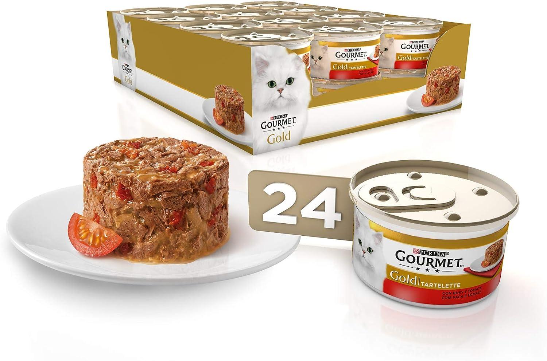 Purina Gourmet Gold Tartalette comida para gatos con Buey y Tomate ...