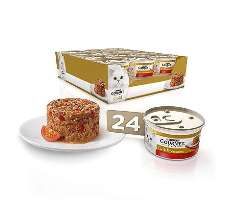 Purina Gourmet Gold Tartalette comida para gatos con Buey y Tomate 24 x 85 g