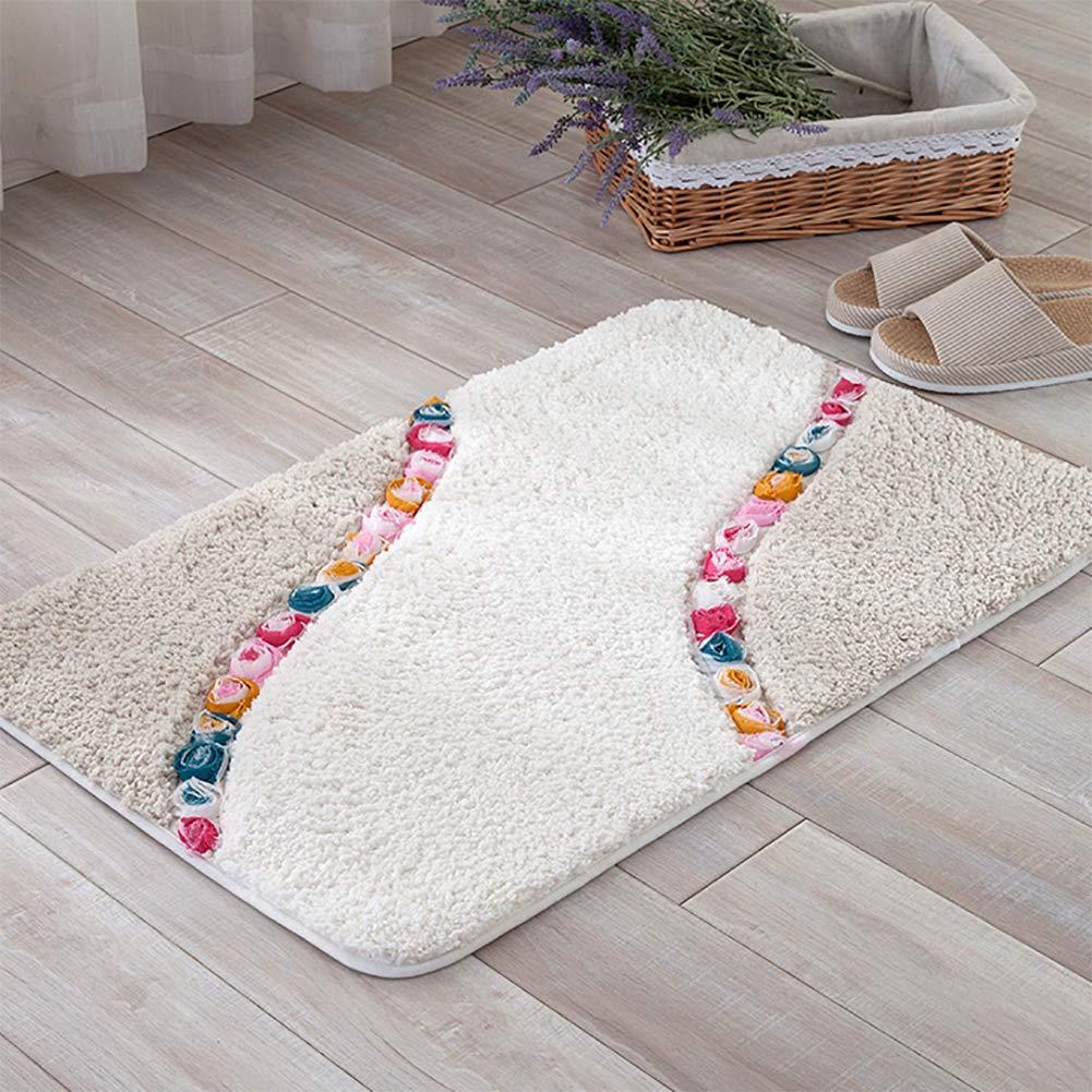 BeigeA 50x80cm(20x31inch) Door mat,Non Slip Door mat Indoor Doormat Entrance Rug Rug Floor mat Shaggy Area Rug-pinkA 80x120cm(31x47inch)