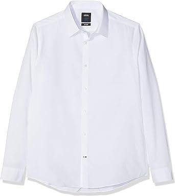 Burton Menswear London Two Pack Slim Fit Shirt Camisa de Vestir, Blanco (White 190), 44 ES (tamaño Fabricante: L) 2 para Hombre: Amazon.es: Ropa y accesorios