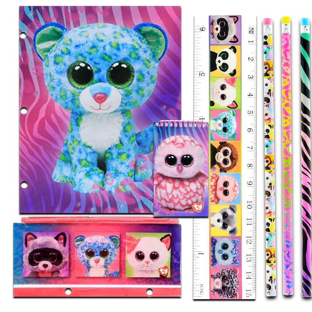 ed8c13e5764 Amazon.com  TY Beanie Boos 11 Piece Stationary Set Folders Pencils Notebook   Toys   Games