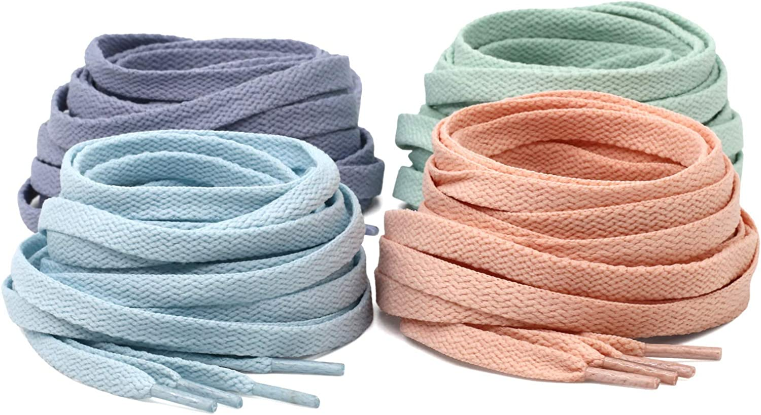 DELELE 2 Pair Super Quality 24 Colors Flat Shoe laces 5//16 Wide Shoelaces for Athletic Running Sneakers Shoes Boot Strings