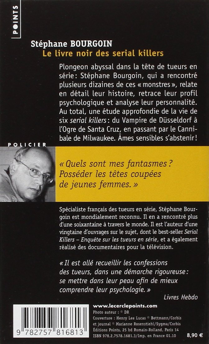 Livre Noir Des Serial Killers Le French Edition Sti