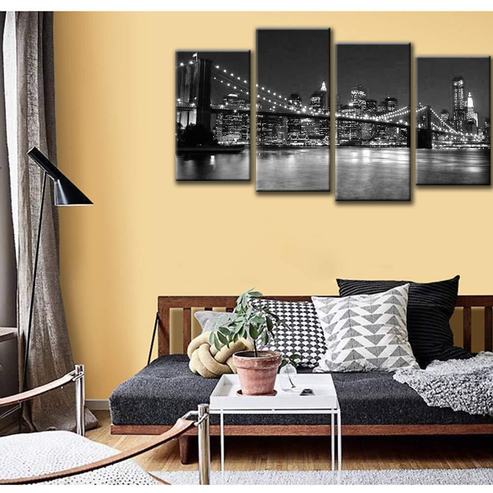Raybre Art® Brooklyn Bridge night view painting New York night view ...
